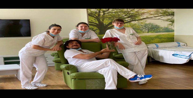 Equipo de sanitarios del SACYL en San Juan de Dios